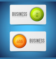 button cards banners set vector image vector image