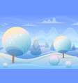 cartoon winter landscape in vector image