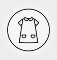 child dress universal icon thin line vector image