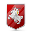 Coat of arms Belarus vector image