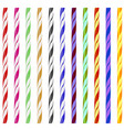 colorful striped drinking straws vector image vector image