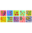 counting and writing numbers to 10 for kids vector image