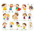 Cute Family and Kids vector image vector image