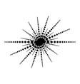 dot line simple footer border sun shape design vector image vector image