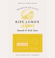 family recipe lemons liquor acohol label abstract vector image vector image