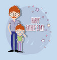 father with his son celebrating father day vector image vector image