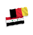 flags of belgium and syria on a white background vector image