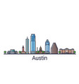 flat line austin banner vector image vector image