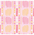 girly pink memphis style geometric abstract vector image