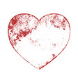 grunge heart shape vector image vector image