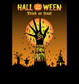 halloween unleash demon party vector image vector image