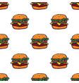 hand drawn burger seamless pattern background vector image vector image