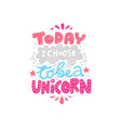 handdrawn unicorn lettering vector image vector image