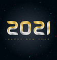 happy new year 2021 background with gold and vector image vector image