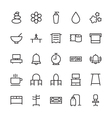 Hotel Outline Icons 8 vector image