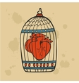 Human heart in a cage vector image vector image