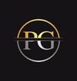 initial monogram letter pg logo design template vector image vector image