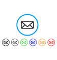 letter rounded icon vector image vector image