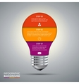 lightbulb for infographic vector image vector image