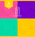 line cosmetics patterns vector image