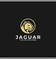 logo jaguar head vintage badge style vector image