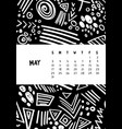 may colorful monthly calendar for 2020 year vector image