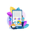 mobile app for traveling people flat icon vector image vector image