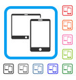 mobile devices framed icon vector image
