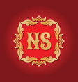 monogram ns letters - concept logo template design vector image vector image