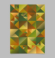 multicolored abstract polygonal triangle page vector image vector image