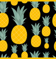 pineapple natural seamless pattern background vector image vector image