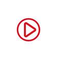 play button logo media player vector image
