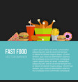 poster of unhealthy fast food eating vector image vector image