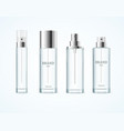 realistic detailed 3d blank perfume bottle vector image vector image