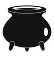 retro cauldron icon simple style vector image