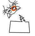 sad cat meme with speech chat bubble vector image