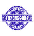 scratched textured trending goods stamp seal with vector image vector image