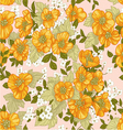 Seamless pattern of yellow wildflowers vector image vector image