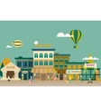Set buildings of small business flat design vector image vector image