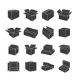Set of icons of boxes vector image vector image