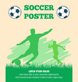 soccer players poster template vector image vector image