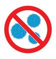 stop bacteria icon vector image vector image