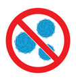 stop bacteria icon vector image