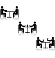Table meetings vector image vector image