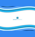 template simple blue wave lines minimal curve vector image vector image
