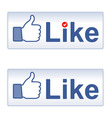 Thumb Up and Like vector image vector image