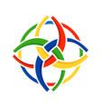 unity in diversity circular symbol design vector image vector image
