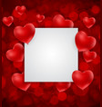 valentine s day heart love and feelings background vector image