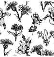 vintage seamless floral pattern vector image vector image
