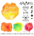 Watercolor steins and headlineMothers day vector image vector image